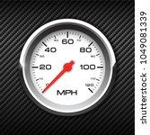 vector realistic speedometer on ... | Shutterstock .eps vector #1049081339