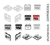 set of collection modern vector.... | Shutterstock .eps vector #1049083361