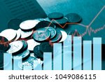 stack coin money with report... | Shutterstock . vector #1049086115