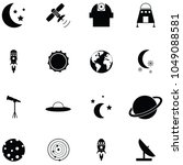 space icon set | Shutterstock .eps vector #1049088581