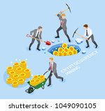 bitcoin cryptocurrency mining... | Shutterstock .eps vector #1049090105