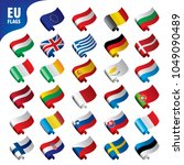 flags of the european union | Shutterstock .eps vector #1049090489