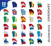 flags of the european union | Shutterstock .eps vector #1049090495
