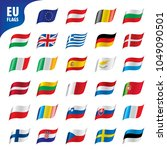 flags of the european union | Shutterstock .eps vector #1049090501