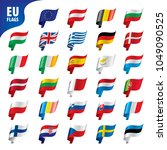 flags of the european union | Shutterstock .eps vector #1049090525