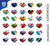 flags of the european union | Shutterstock .eps vector #1049090531