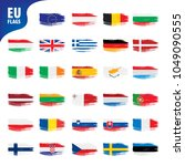 flags of the european union | Shutterstock .eps vector #1049090555