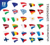 flags of the european union | Shutterstock .eps vector #1049090561
