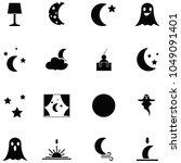night icon set | Shutterstock .eps vector #1049091401