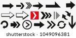 arrows vector collection black. ... | Shutterstock .eps vector #1049096381