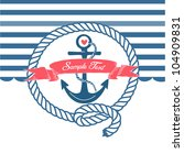 Cute Nautical Background With...