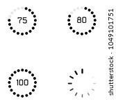 loading icon set | Shutterstock .eps vector #1049101751