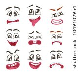 smiley faces with different... | Shutterstock . vector #1049102954
