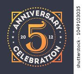 anniversary celebration  5... | Shutterstock . vector #1049103035