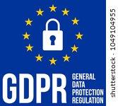 gdpr   general data protection... | Shutterstock .eps vector #1049104955