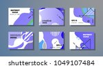 creative design for cards ... | Shutterstock .eps vector #1049107484