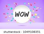 banner wow. poster  speech... | Shutterstock .eps vector #1049108351