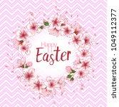 happy easter vector card.... | Shutterstock .eps vector #1049112377