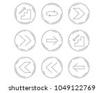 arrows icons. upstairs ... | Shutterstock .eps vector #1049122769