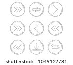 arrows icons. download  repeat... | Shutterstock .eps vector #1049122781