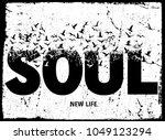 vintage slogan man t shirt... | Shutterstock .eps vector #1049123294