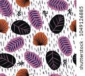 fashionable seamless pattern... | Shutterstock .eps vector #1049126885