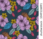 trendy seamless pattern with... | Shutterstock .eps vector #1049126891