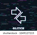 glitch effect. synchronize... | Shutterstock .eps vector #1049127215