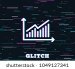 glitch effect. chart line icon. ... | Shutterstock .eps vector #1049127341