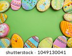 easter gingerbread in... | Shutterstock . vector #1049130041