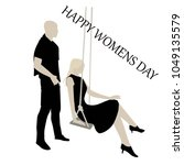 happy womens day  womens... | Shutterstock .eps vector #1049135579