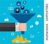 lead management generation flat ... | Shutterstock .eps vector #1049147081