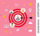 target customer  flat design... | Shutterstock .eps vector #1049147084
