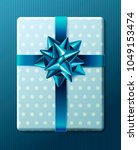 wrapped vintage gift box with... | Shutterstock .eps vector #1049153474