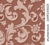 vector volumetric flower...   Shutterstock .eps vector #1049155025
