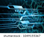binary circuit board future... | Shutterstock .eps vector #1049155367