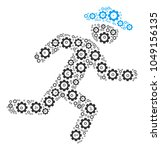 running gentleman composition... | Shutterstock .eps vector #1049156135