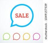 set of speech bubble icons.... | Shutterstock .eps vector #1049157539
