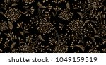 floral vintage seamless pattern.... | Shutterstock .eps vector #1049159519
