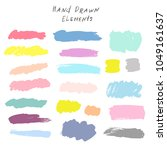 hand drawn elements for design... | Shutterstock .eps vector #1049161637