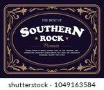 hand drawn vintage frame retro... | Shutterstock .eps vector #1049163584