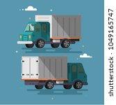 truck delivery vector... | Shutterstock .eps vector #1049165747