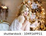 beautiful sexy lady in elegant... | Shutterstock . vector #1049169911