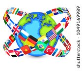 collection of national flags... | Shutterstock .eps vector #1049169989