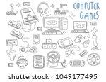 set of doodle vector icons... | Shutterstock .eps vector #1049177495