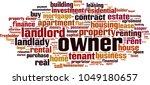 owner word cloud concept.... | Shutterstock .eps vector #1049180657