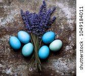 happy easter rustic concept...   Shutterstock . vector #1049184011