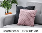 comfortable sofa with cushions... | Shutterstock . vector #1049184905