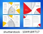 set brochure design template ... | Shutterstock .eps vector #1049189717