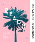 summer event poster flyer... | Shutterstock .eps vector #1049192651